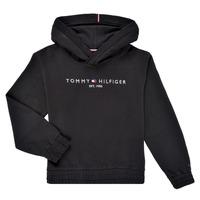 tekstylia Dziewczynka Bluzy Tommy Hilfiger DEMINRA Czarny