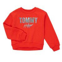 tekstylia Dziewczynka Bluzy Tommy Hilfiger KOMELA Czerwony