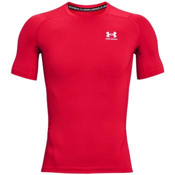 tekstylia Męskie T-shirty z krótkim rękawem Under Armour Heatgear Armour Short Sleeve Czerwony