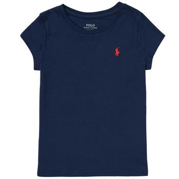 tekstylia Dziewczynka T-shirty z krótkim rękawem Polo Ralph Lauren DRETU Marine