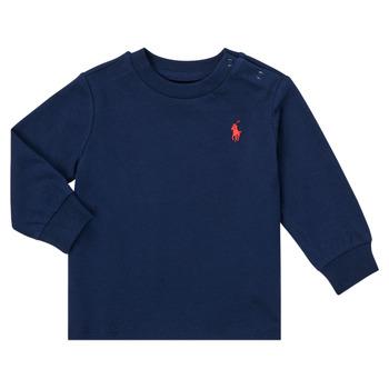 tekstylia Chłopiec T-shirty z długim rękawem Polo Ralph Lauren FADILA Marine