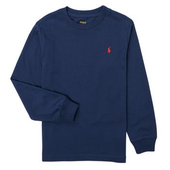 tekstylia Chłopiec T-shirty z długim rękawem Polo Ralph Lauren KEMILO Marine