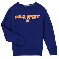 tekstylia Chłopiec Bluzy Polo Ralph Lauren SENINA Marine