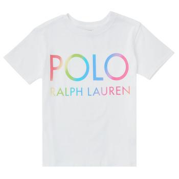 tekstylia Dziewczynka T-shirty z krótkim rękawem Polo Ralph Lauren FERILO Biały