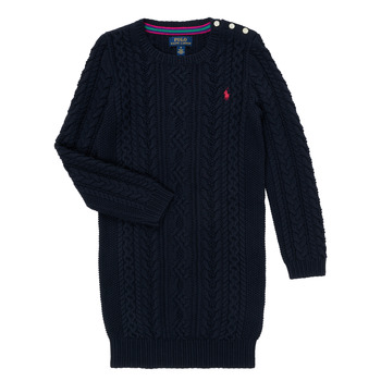 tekstylia Dziewczynka Sukienki krótkie Polo Ralph Lauren RURBE Marine