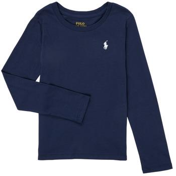 tekstylia Dziewczynka T-shirty z długim rękawem Polo Ralph Lauren TENINA Marine
