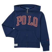 tekstylia Chłopiec Bluzy Polo Ralph Lauren FERINA Marine
