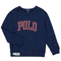 tekstylia Chłopiec Bluzy Polo Ralph Lauren KAMILLAR Marine