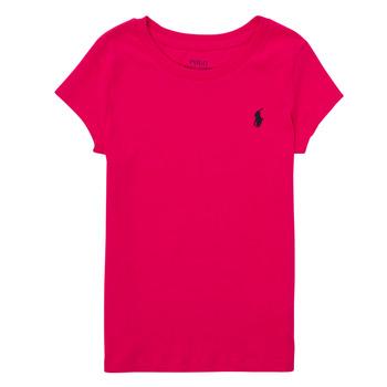 tekstylia Chłopiec T-shirty z krótkim rękawem Polo Ralph Lauren ASKIRA Różowy