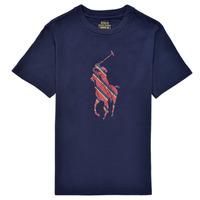 tekstylia Chłopiec T-shirty z krótkim rękawem Polo Ralph Lauren GUILIA Marine