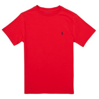 tekstylia Chłopiec T-shirty z krótkim rękawem Polo Ralph Lauren FOLLIA Czerwony