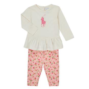 tekstylia Dziewczynka Komplet Polo Ralph Lauren FRENNO Wielokolorowy