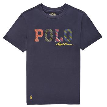 tekstylia Chłopiec T-shirty z krótkim rękawem Polo Ralph Lauren COLLINA Marine