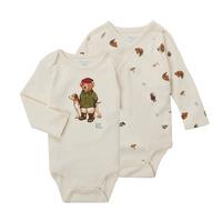 tekstylia Chłopiec Body  Polo Ralph Lauren TAKINA Ecru