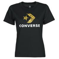tekstylia Damskie T-shirty z krótkim rękawem Converse STAR CHEVRON HYBRID FLOWER INFILL CLASSIC TEE Czarny