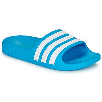 Buty Dziecko klapki adidas Performance ADILETTE AQUA K Niebieski / Biały