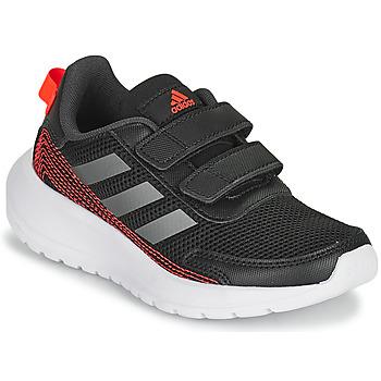 Buty Chłopiec Bieganie / trail adidas Performance TENSAUR RUN C Czarny / Czerwony