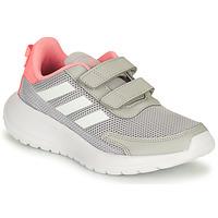 Buty Dziewczynka Bieganie / trail adidas Performance TENSAUR RUN C Szary / Różowy