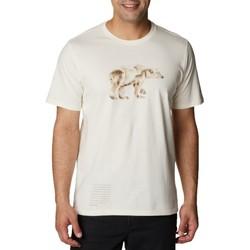 tekstylia Męskie T-shirty z krótkim rękawem Columbia Clarkwall Organic Cotton Tee Biały