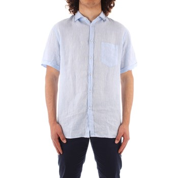 tekstylia Męskie Koszule z krótkim rękawem Trussardi 52C00213 1T002248 Niebieski