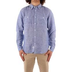 tekstylia Męskie Koszule z długim rękawem Blauer 21SBLUS01221 Niebieski