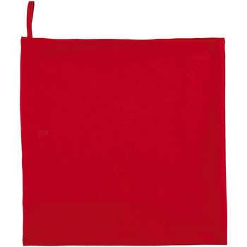 Dom Ręcznik i rękawica kąpielowa Sols ATOLL 70 ROJO Rojo