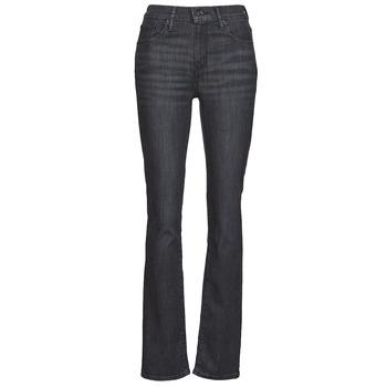 tekstylia Damskie Jeansy straight leg Levi's 725 HIGH RISE STRAIGHT Czarny