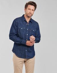 tekstylia Męskie Koszule z długim rękawem Levi's BARSTOW WESTERN STANDARD Niebieski