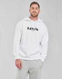 tekstylia Męskie Bluzy Levi's T2 RELAXED GRAPHIC PO Biały