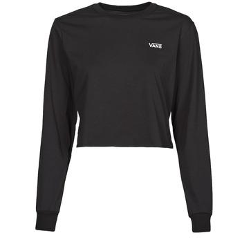 tekstylia Damskie T-shirty z długim rękawem Vans JUNIOR V LS CROP Czarny