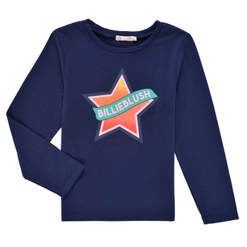 tekstylia Dziewczynka T-shirty z długim rękawem Billieblush DEKOU Marine