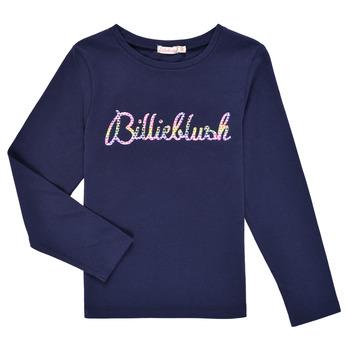 tekstylia Dziewczynka T-shirty z długim rękawem Billieblush PETRA Marine