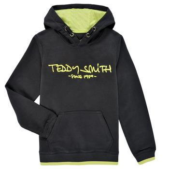 tekstylia Chłopiec Bluzy Teddy Smith SICLASS HOODY Czarny