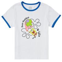 tekstylia Dziewczynka T-shirty z krótkim rękawem Vans VANS X SPONGEBOB BEST BUDDIES RINGER Biały
