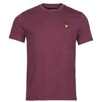 tekstylia Męskie T-shirty z krótkim rękawem Lyle & Scott ROBINA Bordeaux