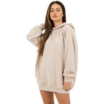 tekstylia Damskie Bluzy Sixth June Robe sweat Femme beige