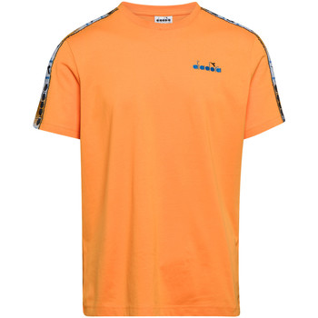 tekstylia Męskie T-shirty z krótkim rękawem Diadora 502176085 Pomarańczowy