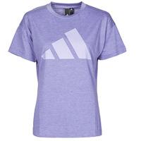 tekstylia Damskie T-shirty z krótkim rękawem adidas Performance WEWINTEE Fioletowy / Mel