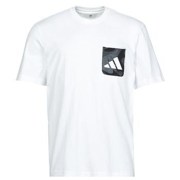tekstylia Męskie T-shirty z krótkim rękawem adidas Performance CAMO PKT TEE Biały