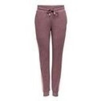 tekstylia Damskie Spodnie dresowe Only Play PANTALON DE CHANDAL CORTE SLIM 15209220 Brązowy