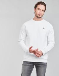 tekstylia Męskie Bluzy adidas Originals ESSENTIAL CREW Biały