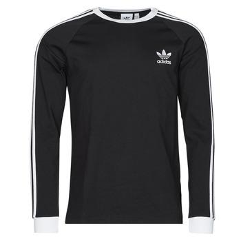 tekstylia Męskie T-shirty z długim rękawem adidas Originals 3-STRIPES LS T Czarny