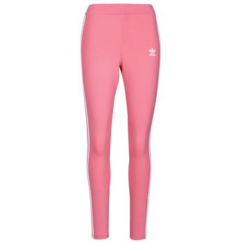 tekstylia Damskie Legginsy adidas Originals 4 STRIPES TIGHT Ton / Różowy