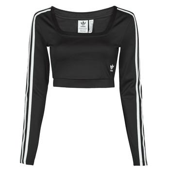 tekstylia Damskie T-shirty z długim rękawem adidas Originals LONG SLEEVE Czarny