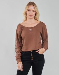 tekstylia Damskie Bluzy adidas Originals SLOUCHY CREW? Brązowy