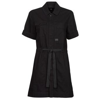 tekstylia Damskie Sukienki krótkie G-Star Raw ARMY DRESS SHORT SLEEVE Czarny