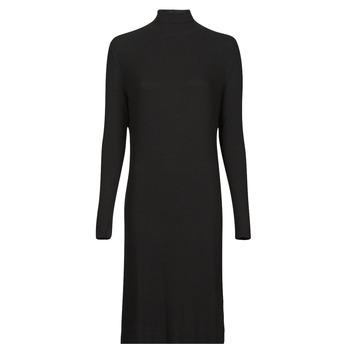 tekstylia Damskie Sukienki długie G-Star Raw RIB MOCK SLIM DRESS Czarny