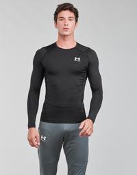 tekstylia Męskie T-shirty z długim rękawem Under Armour UA HG ARMOUR COMP LS Czarny / Biały