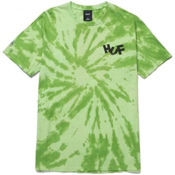 tekstylia Męskie T-shirty i Koszulki polo Huf T-shirt haze brush tie dye ss Zielony