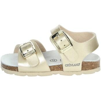 Buty Dziewczynka Sandały Grunland SB0392-40 platynowy